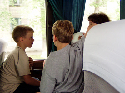 Hope House Family Boys on Bus with Us