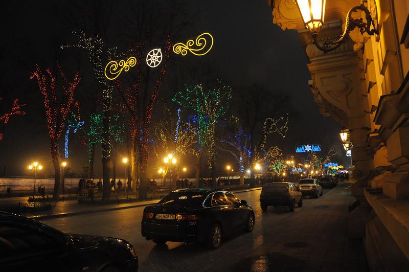 New Year's Eve 2010 in Odessa - Primorsky Blvd. -
