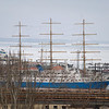 Odessa Bay frozen - tall ship