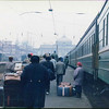 Train passengers arriving in Odessa in mid-1990s