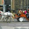 Lviv, Ukraine - horse carriage on Svobody Freedom Ave