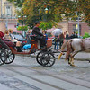 Lviv, Ukraine - horse carriage on Svobody Freedom Ave.