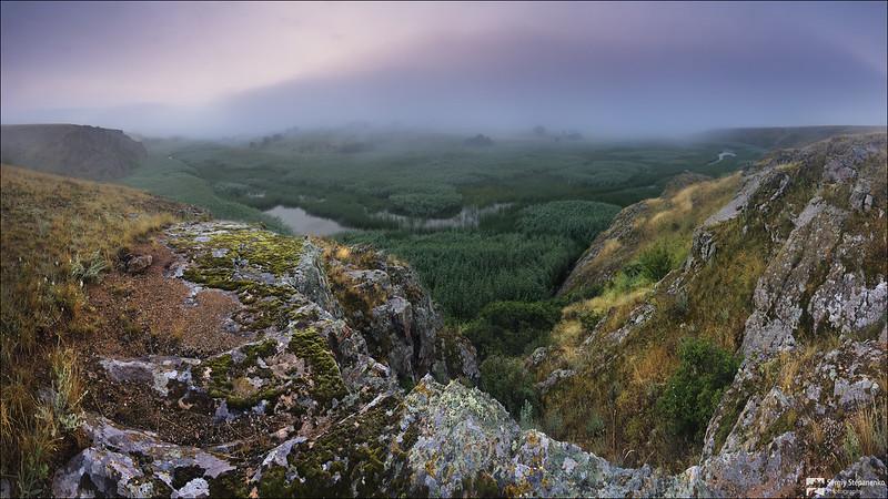 At the Foggy Berda river   У туманной Берды