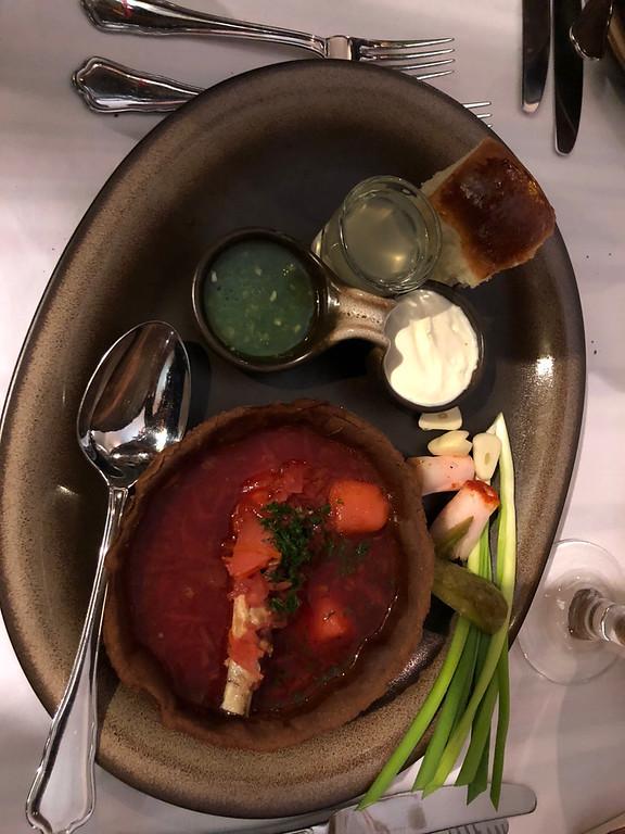 Restaurant Tsarskoye Selo - Ukrainian Red Borscht Soup