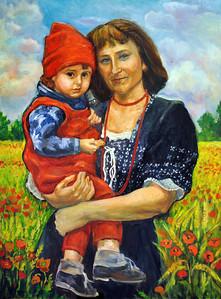 Title: My Little Girl   Art Medium: Oil Painting on Panel  Artist: © Anna Perun