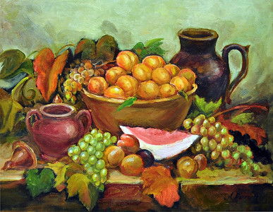 Title: Summer Harvest   Art Medium: Oil Painting on Panel  Artist: © Anna Perun