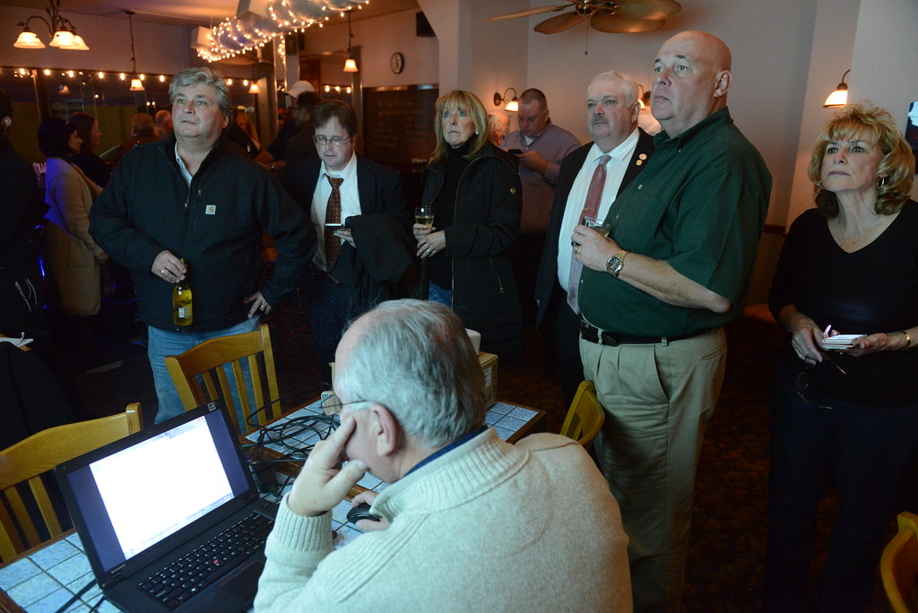 . Ulster Republican gather at Ecce Terra in Uptown Kingston on the night of Election Day, Nov. 7, 2017. Daily Freeman photo by Tania Barricklo