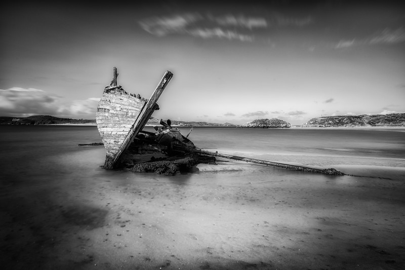 Wreck and ruin, Magheraclogher, Donegal