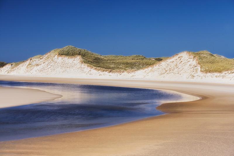 Sheskinmore sand dunes and beach