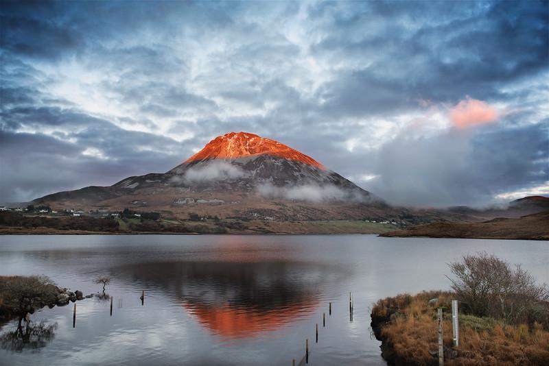 Sunset on Errigal