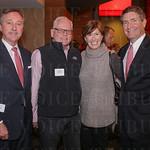 Ed Glasscock, Creighton Mershon, Claire Alagra and Central Bank President Mark Wheeler.