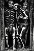 Skeleton men in doorway