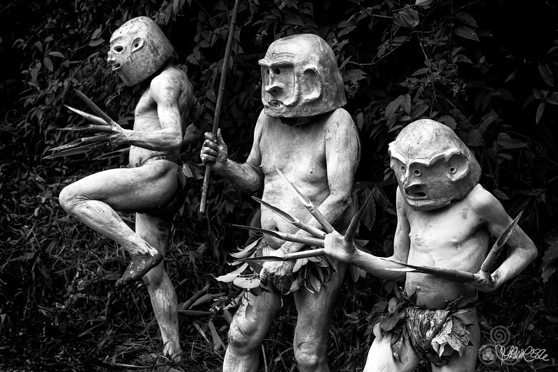Trio of mudmen