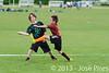 Coupe Junior 2013, Sablé sur Sarthe, France.<br /> U14. RFO (La Flotte en Ré)   vs Frisbeurs Nantais (Nantes)<br /> PhotoID : 2013-05-11-0048