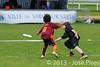 Coupe Junior 2013, Sablé sur Sarthe, France.<br /> U14. RFO (La Flotte en Ré)   vs Frisbeurs Nantais (Nantes)<br /> PhotoID : 2013-05-11-0008