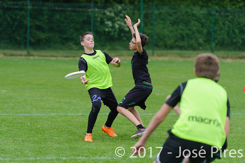 Coupe de France Junior 2017, Saint Sébastien sur Loire, France.<br /> U15. Frisbeurs vs Nuntchac'U<br /> PhotoID : 2017-05-13-0129