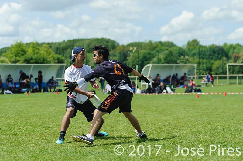 Coupe de France Junior 2017, Saint Sébastien sur Loire, France.<br /> Finale U17 Mixte. Tsunamixtevs Manchots<br /> PhotoID : 2017-05-14-0588