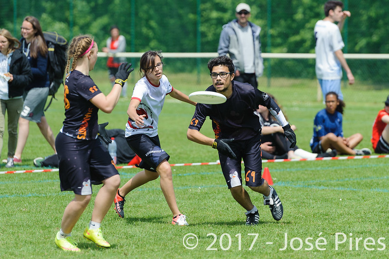 Coupe de France Junior 2017, Saint Sébastien sur Loire, France.<br /> Finale U17 Mixte. Tsunamixtevs Manchots<br /> PhotoID : 2017-05-14-0598