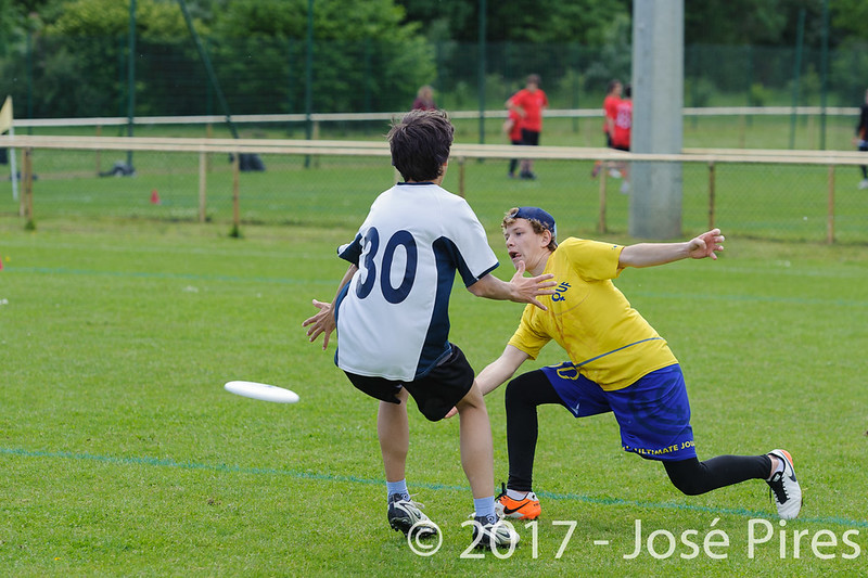 Coupe de France Junior 2017, Saint Sébastien sur Loire, France.<br /> U17 Open. OUF vs Tchac Sparrow<br /> PhotoID : 2017-05-13-0143
