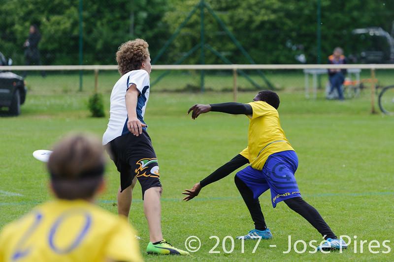 Coupe de France Junior 2017, Saint Sébastien sur Loire, France.<br /> U17 Open. OUF vs Tchac Sparrow<br /> PhotoID : 2017-05-13-0158