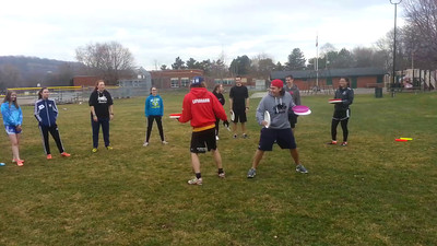 April 13: Knock the Disc Game