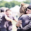 Colony (Australia Men's) celebrate the win against Ring of Fire (USA Men's) in the quarterfinals. 2018 World Ultimate Club Championships, Lebanon Sport Complex -- 19 July 2018