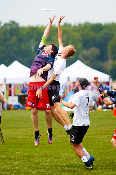 Marvellous DC (New Zealand Mixed) vs Anchor (Canada Mixed) in pool play. 2018 World Ultimate Club Championships, Lebanon Sport Complex -- 16 July 2018