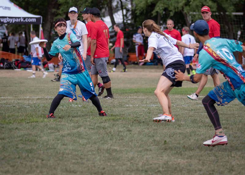Winnipeg, Canada: Masters Mixed, Mastadon vs Wasabi at WMUCC. July 30, 2018.© 2018 Robert Engelbrecht. All rights reserved