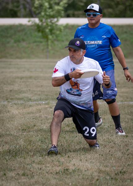 Winnipeg, Canada: Grand Masters, Grandmasters vs UP-Korea at WMUCC. July 30, 2018.© 2018 Robert Engelbrecht. All rights reserved