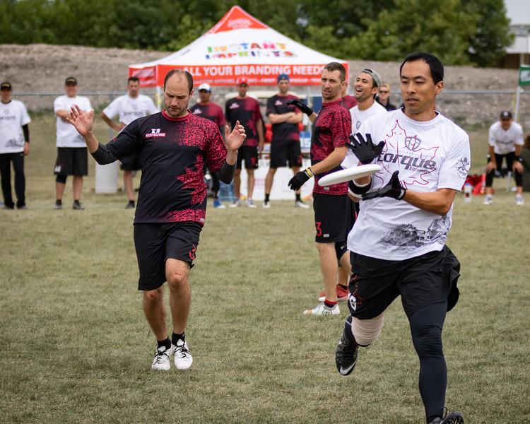 Winnipeg, Canada: Masters Men, Torque vs Best Before at WMUCC. Aug 1, 2018.© 2018 Robert Engelbrecht. All rights reserved