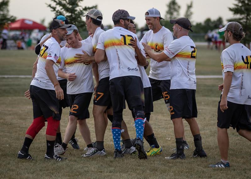 Winnipeg, Canada: Grand Masters, Figjam vs Shadows at WMUCC. Aug 2, 2018.© 2018 Robert Engelbrecht. All rights reserved