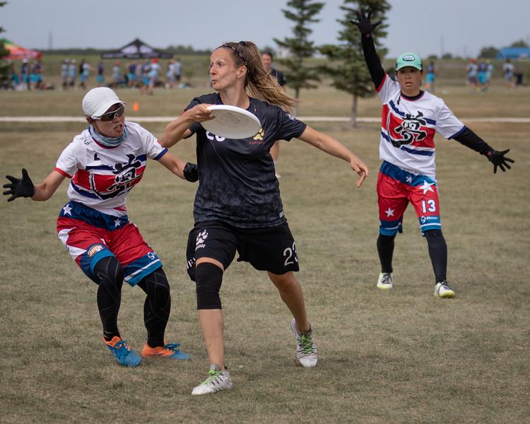 Winnipeg, Canada: Masters women, Vintage vs Mu-Syozoku at WMUCC. Aug 2, 2018.© 2018 Robert Engelbrecht. All rights reserved