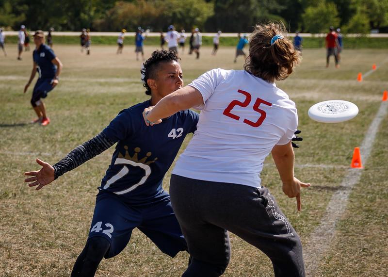 Winnipeg, Canada: Masters women, Dyna vs iRot at WMUCC. Aug 3, 2018.© 2018 Robert Engelbrecht. All rights reserved