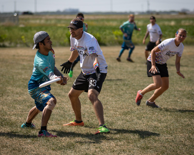 Winnipeg, Canada: Masters Mixed, Spectrum vs Wasabi at WMUCC. Aug 3, 2018.© 2018 Robert Engelbrecht. All rights reserved