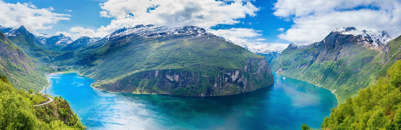 Geirangerfjord, Norway Panorama