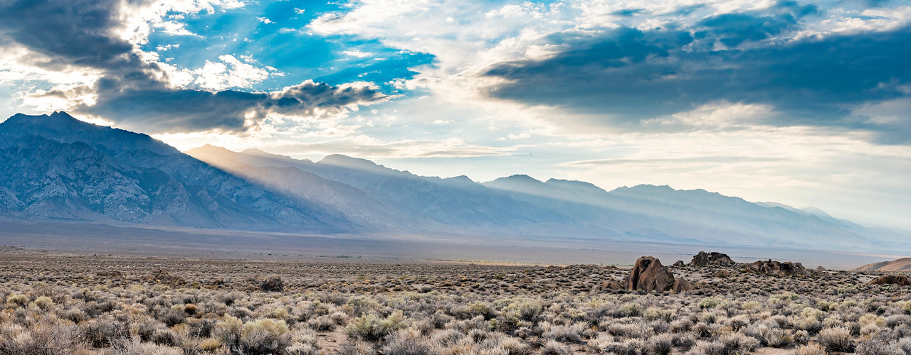 Eastern Sierras Sunset Landscape Photo