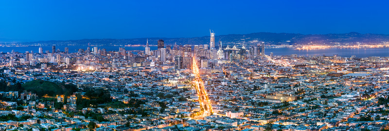 Downtown San Francisco Blue Hour