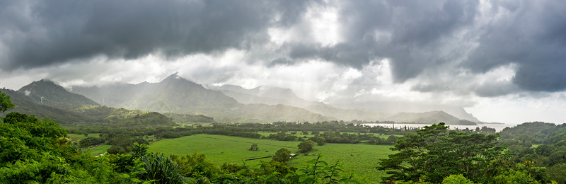Hanalei Bay Panorama and the Wettest Place on Earth