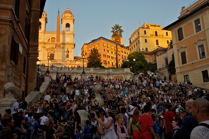 Spanish Steps somewhere under all the people