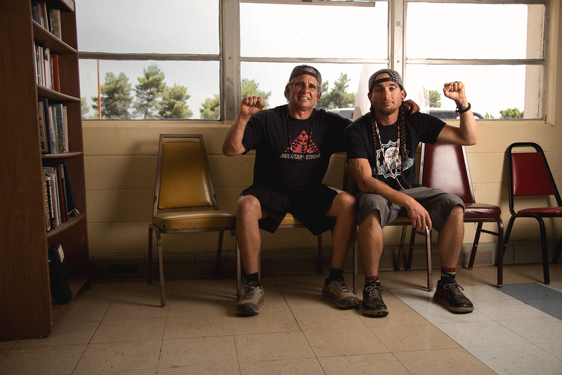 Robert Edmonds, 53 years old and his son Leon Edmonds, 30 years old, Wintu and Shasta Natives