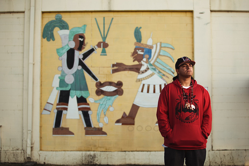 David Ocelotl, Aztec Native American and volunteer at D-Q University.