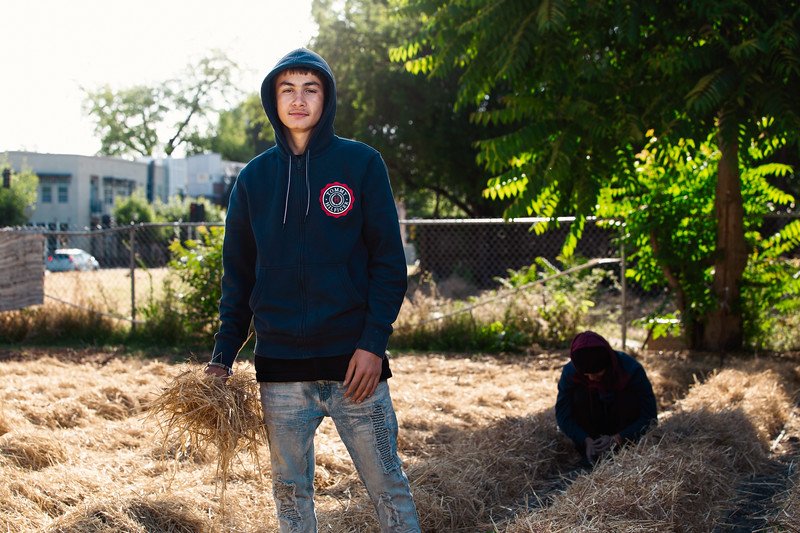 Vincent, 15 Years Old, Urban Farmer at Three Sisters Gardens