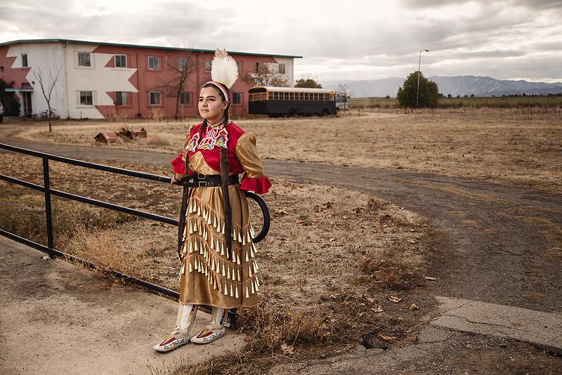Maya Horse, Oglala Lakota, 17 years old