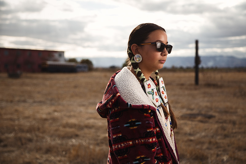 Shya, Lakota and Pueblo Native American, 13 years old