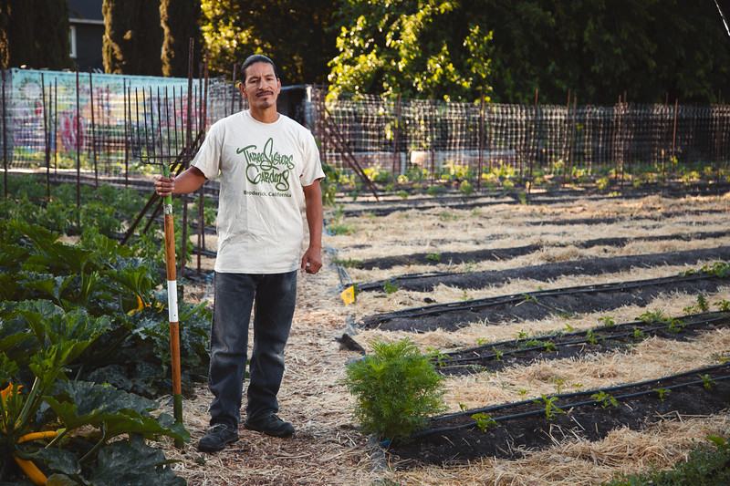 Alfred Melbourne, Lakota Native - Founder of Three Sisters Gardens in Broderick, CA