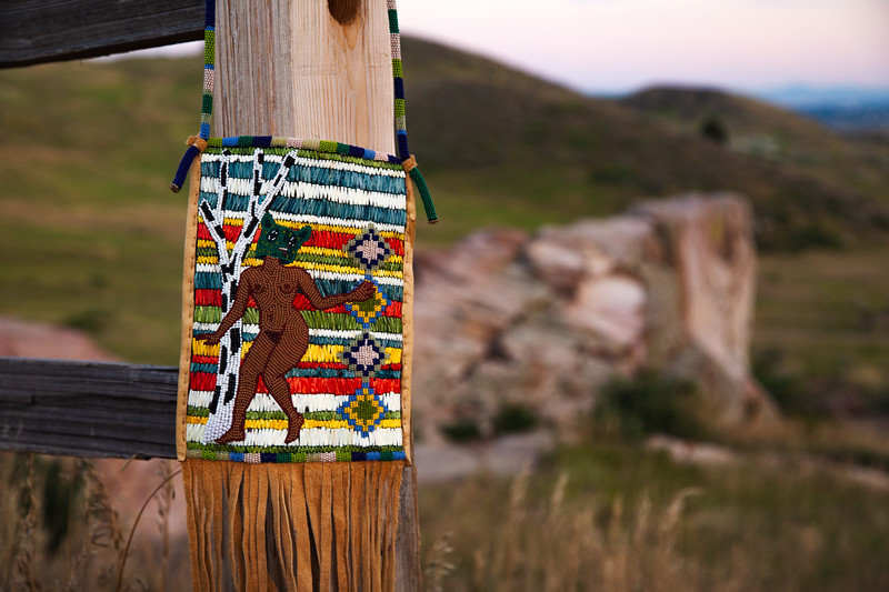 Coyote Beadwork Bag by White River Ute and White Mountain Apache Contemporary Artist, Chelsea James