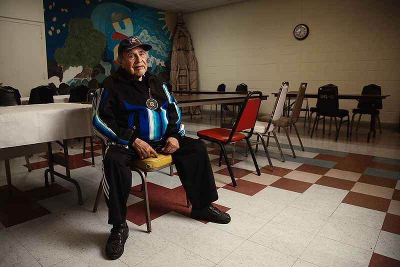 Joseph B. Pacheco, Paiute and Washoe Native American, 84 years old