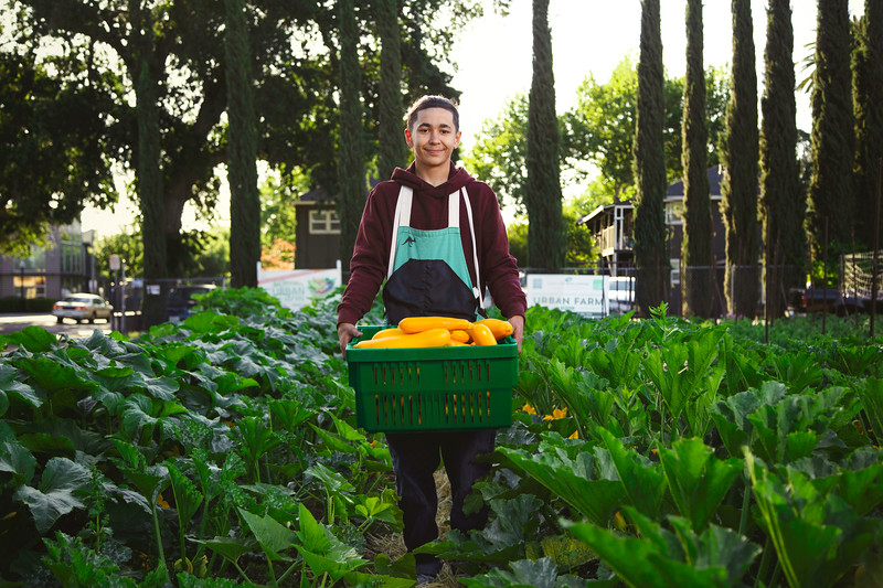 Nico, 17 Years Old, Urban Farmer at Three Sisters Gardens