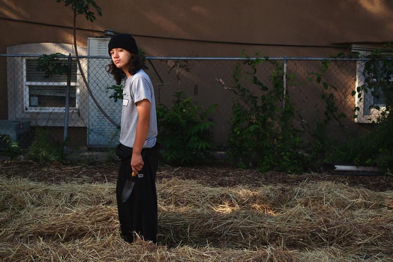 Tony, 15 Years Old, Urban Farmer at Three Sisters Gardens