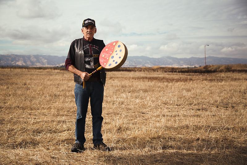 Richard Flittie, Lakota drum maker, 73 years old
